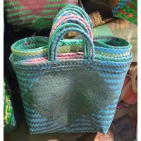 Upcycled Woven Shopping Bag (large)