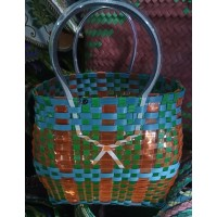 Upcycled Woven Basket