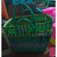 Upcycled Woven Square Bag (medium)